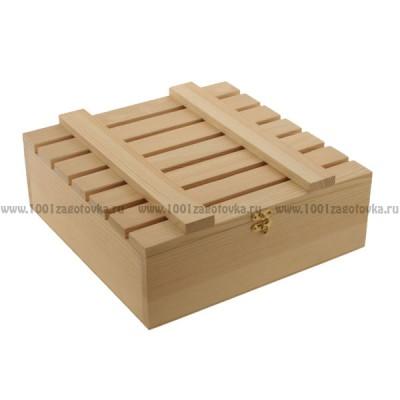 Реечная коробка из дерева 700-5