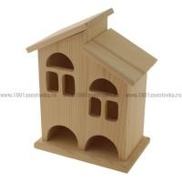 Чайный домик из дерева двойной 009-1