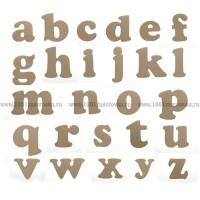 Деревянная заготовка набора всех букв латинского алфавита (26 букв от a до z)