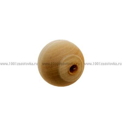 Деревянная заготовка бусинка для ожерелья 1,5 см