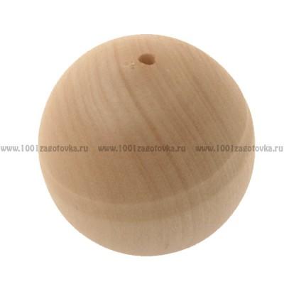 Деревянная заготовка бусинка для ожерелья 3,5 см