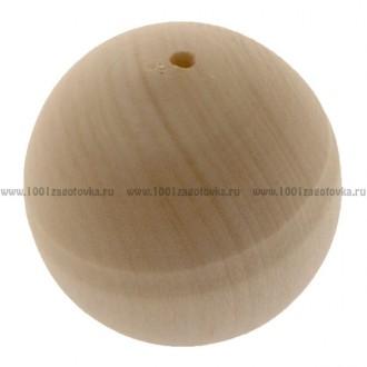 Деревянная заготовка бусинка для ожерелья 4 см