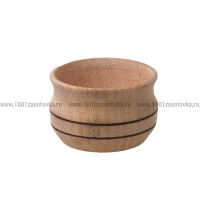 Деревянная заготовка солонки 6 х 4 см