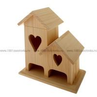 Чайный домик из дерева двойной (со съемной крышей) 009