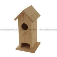 Чайный домик из дерева одинарный (скворечник, модификация)