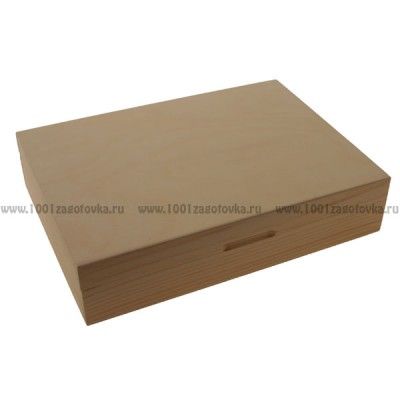 Коробка деревянная под бумаги 130
