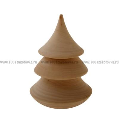Деревянная заготовка ёлки-неваляшки с музыкальным элементом (неразборная) 1-9.33e